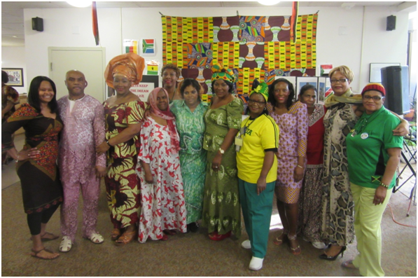 Staff at Humber Valley Terrace dress up in cultural clothing to celebrate Black History Month